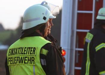 Einsatzleiter der Feuerwehr