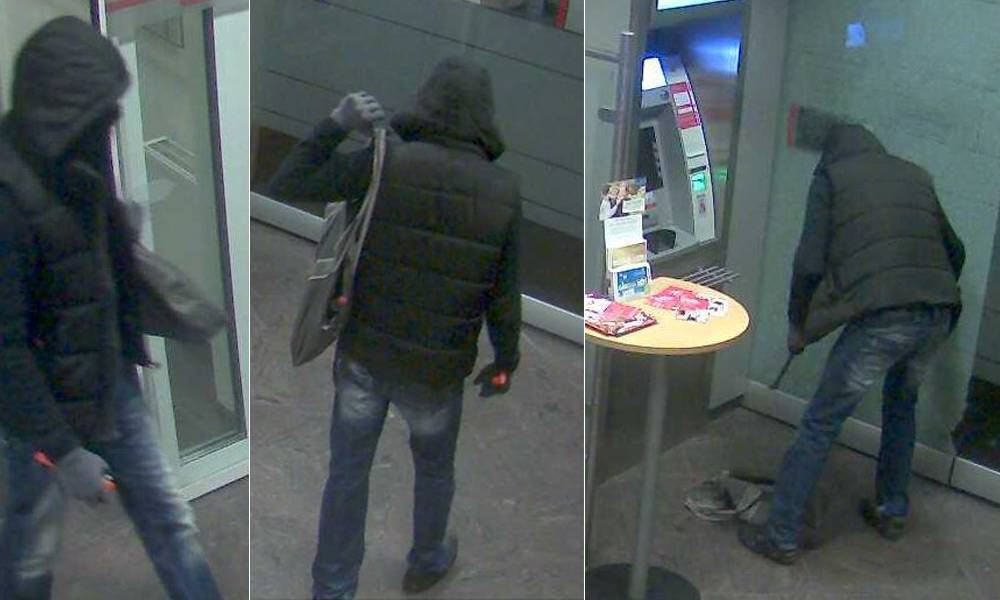 Vorraum Bank Tatverdächtiger - © Polizei Vlotho