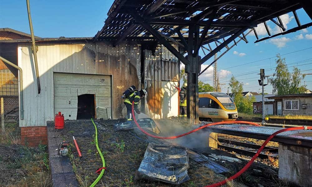 Brand am alten Güterbahnhof - © Feuerwehr Detmold