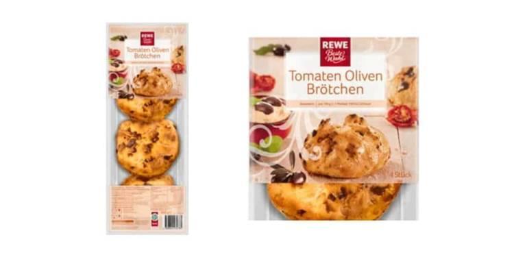 Produkt-Rückruf: REWE Beste Wahl Tomaten Oliven Brötchen - © Fa. Panificio Italiano Veritas GmbH