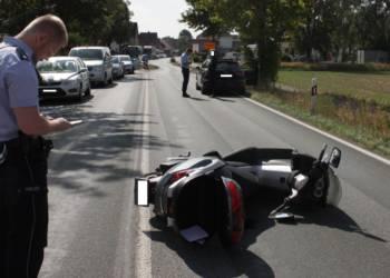 Verkehrsunfall B64 - © Polizei Höxter