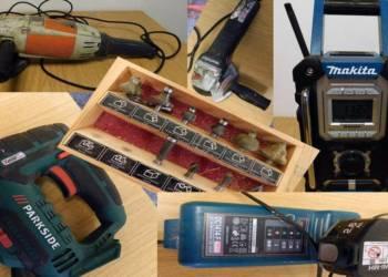 Verschiedene aufgefundene Werkzeuge