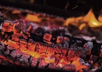 Kohle mit Glut