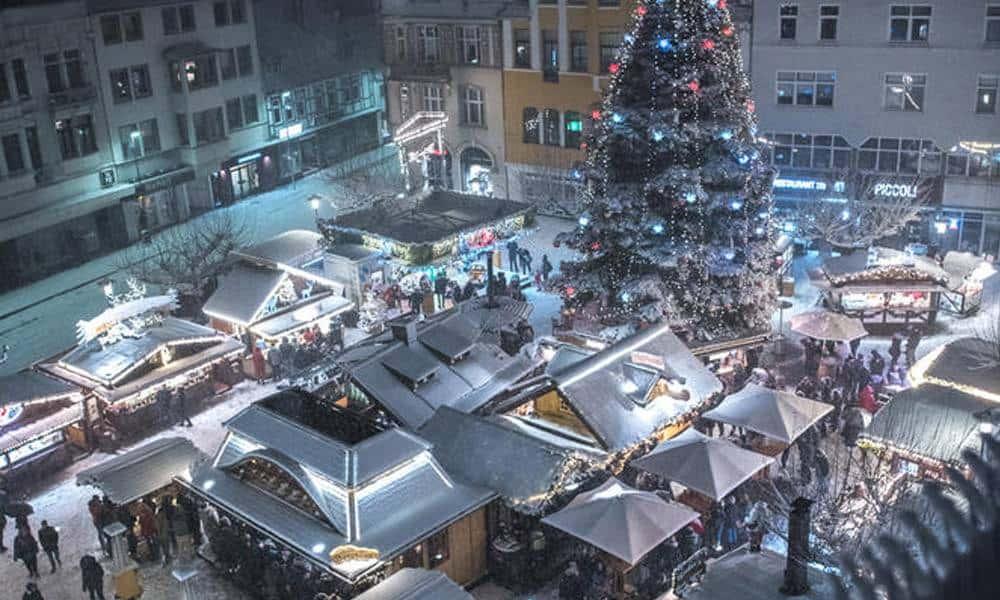Herforder Weihnachtslicht am Alten Markt von oben