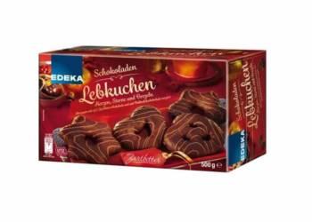Produkt-Rückruf: EDEKA Schokoladen Lebkuchen, Herzen, Sterne und Brezeln Zartbitter - © Edeka Zentrale AG & Co. KG