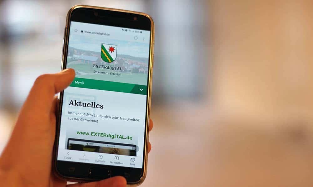 """Gemeinde-Websites für Lippes Dörfer: Mit """"EXTERdigiTAL"""" ist die erste Plattform nun online gegangen. - © Kreis Lippe"""