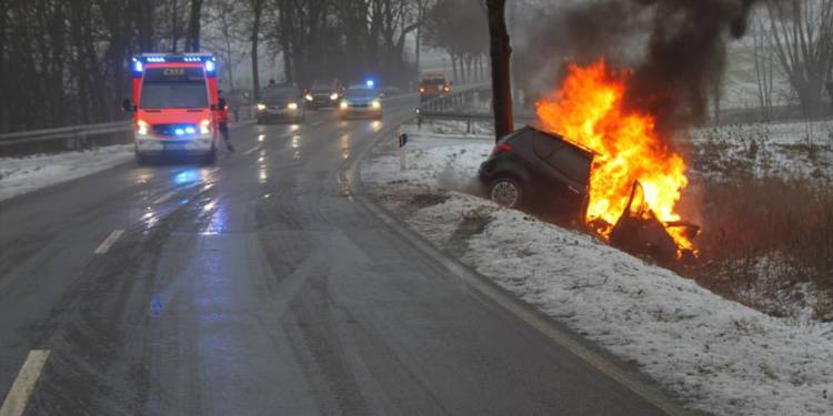Unfall - © Polizei Borgentreich