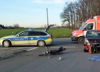 Unfallstelle - © Polizei Espelkamp