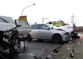 Unfallstelle - © Polizei Rahden