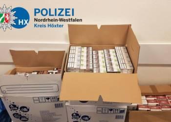Sichergestellte Zigaretten - © Polizei Bad Driburg