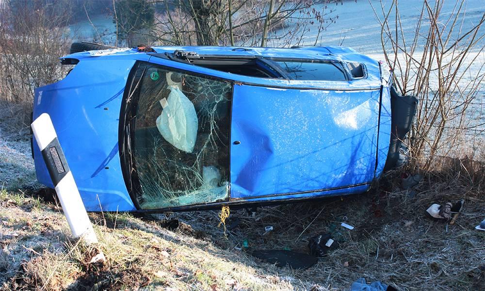 Unfallstelle - © Polizei Willebadessen