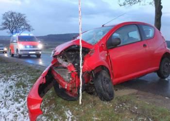 Unfallstelle - © Polizei Warburg
