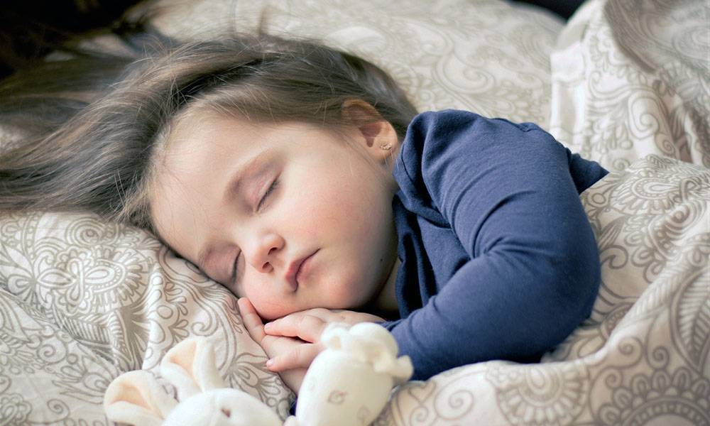 Mädchen. Schlafen