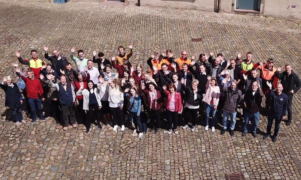 Gruppenfoto bei den Aufnahmen
