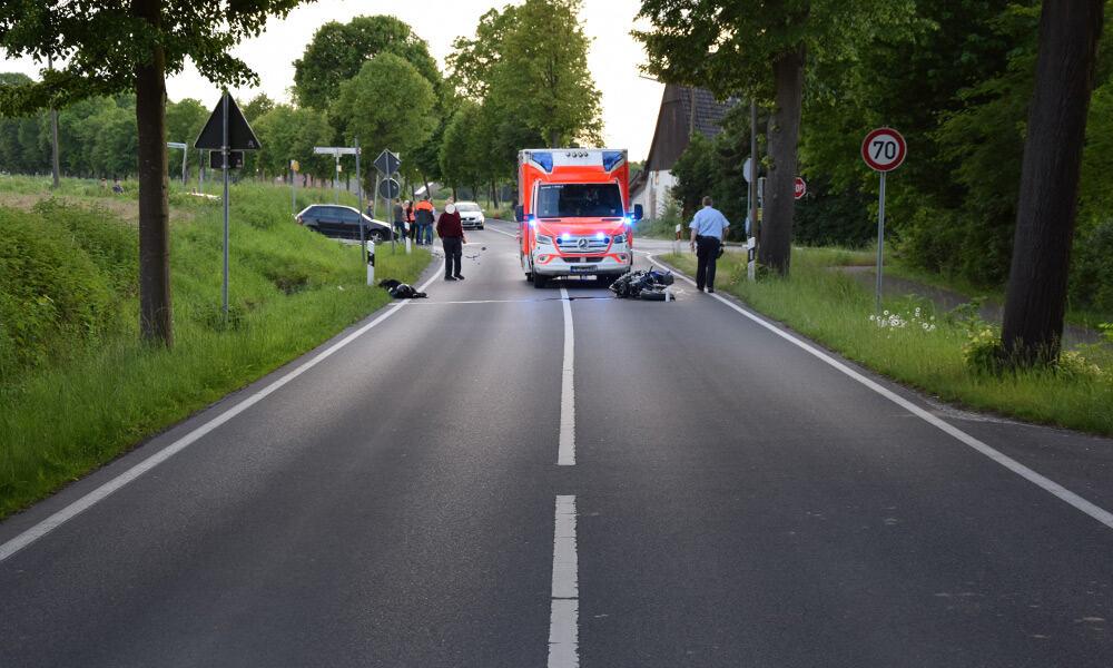 Unfallstelle an der Werther Straße in Enger