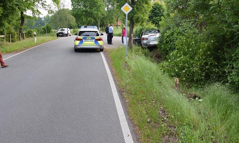 Unfallstelle an der Horstsiekstraße in Bünde