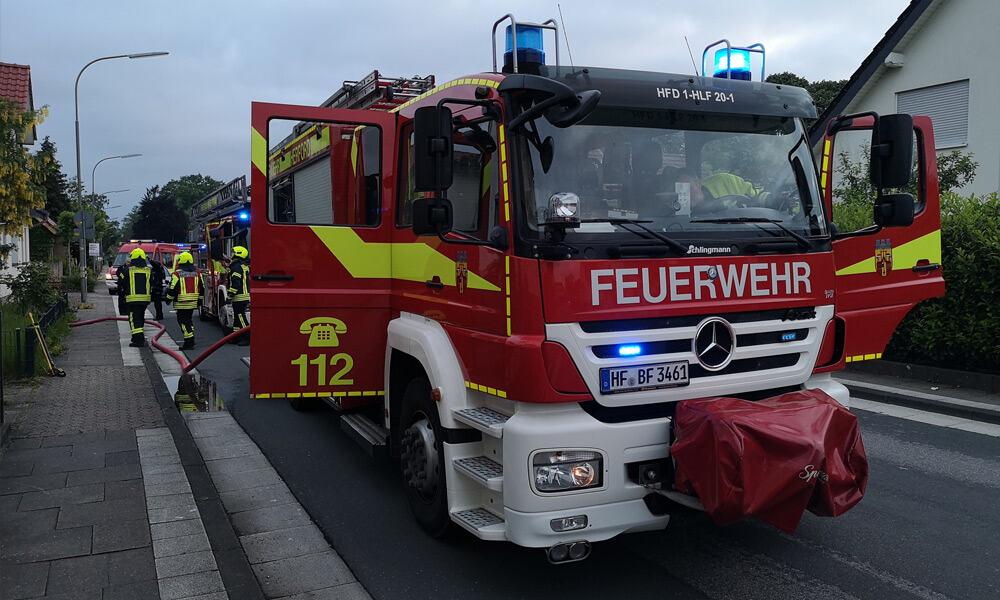 Brand an der Stadtholzstraße in Herford