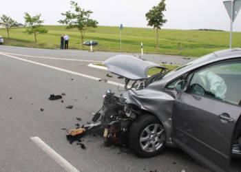 Unfallstelle an der B7 in der Nähe von Warburg