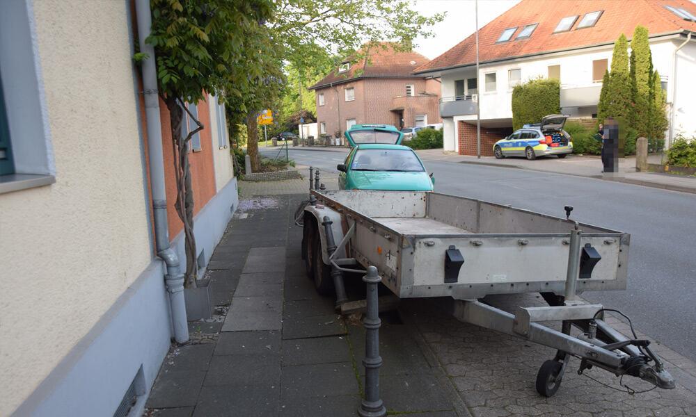 Unfallstelle an der Ringstraße in Löhne