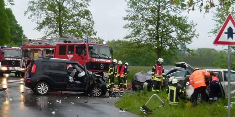 Unfallstelle am Horstweg in Lübbecke