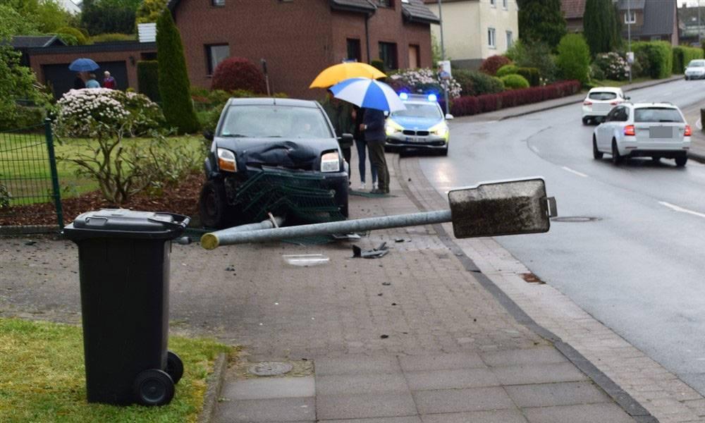 Unfallstelle an der Bielefelder Straße in Spenge