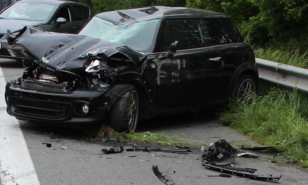 Unfallstelle auf der A2