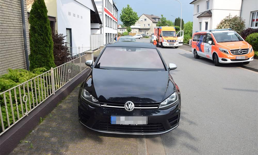 Unfallstelle an der Ravensberger Straße in Löhne