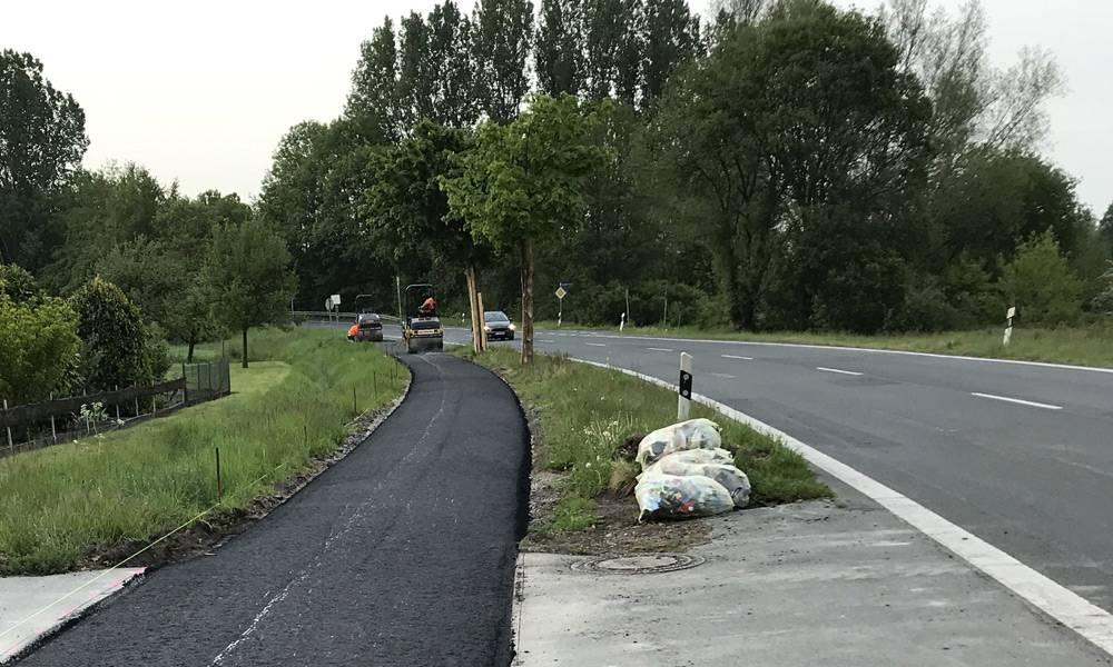 Bauarbeiten an der K1 zwischen Rheda-Wiedenbrück und Bokel