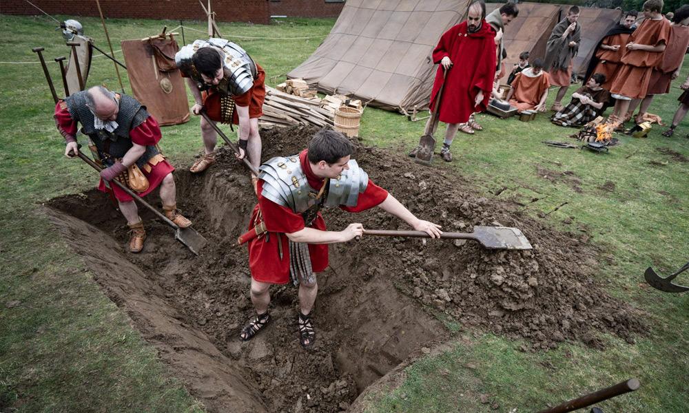 Auf der Römerbaustelle