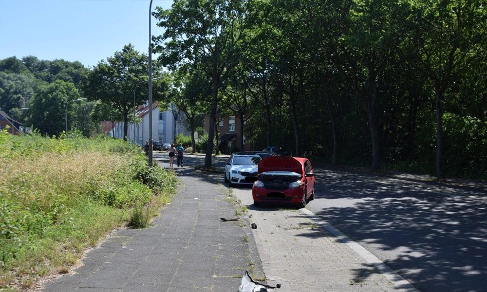 Unfallstelle an der August-Griese-Gesamtschule in Löhne