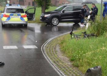Unfallstelle an der Straße Zur Hegge in Enger