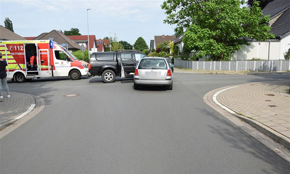 Unfallstelle an der Schloßstraße in Bünde