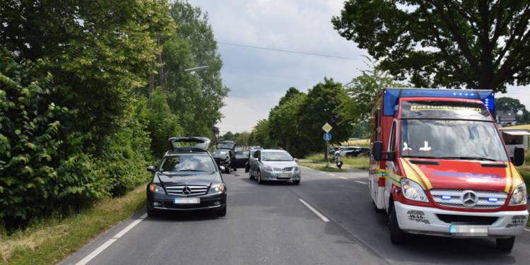 Unfallstelle an der Unteren Talstraße in Hiddenhausen