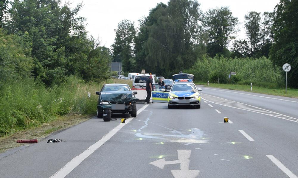 Unfallstelle an der Lübbecker Straße in Herford