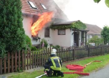 Brand an einem Wohnhaus in Espelkamp Frotheim