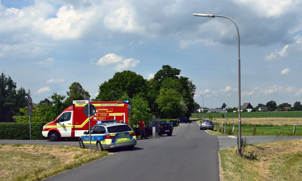 Unfallstelle im Heidsiek in Herford