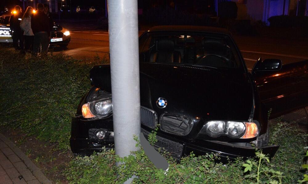 Unfallstelle an der Mindener Straße in Bünde