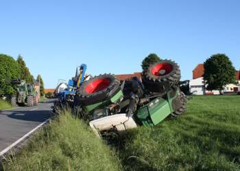 Unfallstelle an der K16 in Daseburg