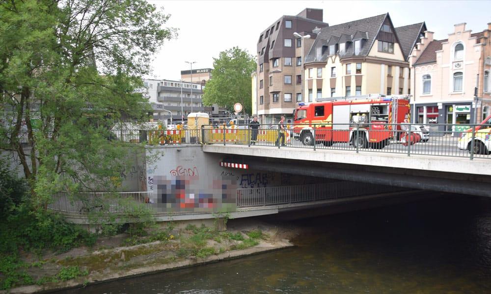 Unfallstelle an der Lübberstraße in Herford