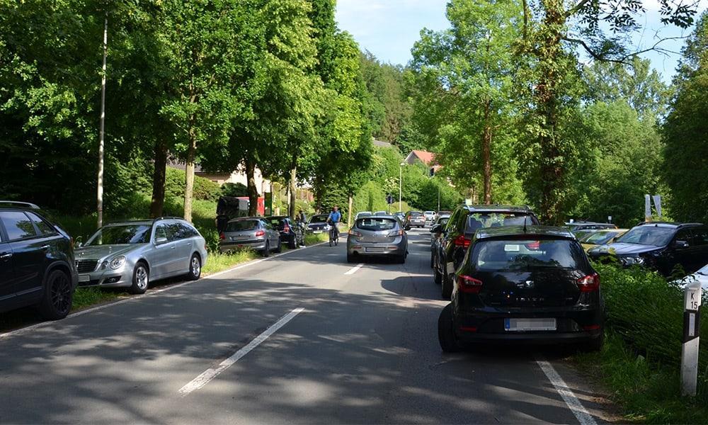 Unfallstelle an der Bäderstraße in Vlotho
