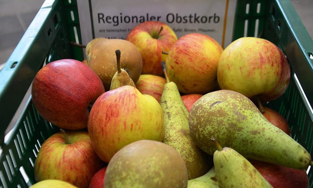 Regionaler Obstkorb