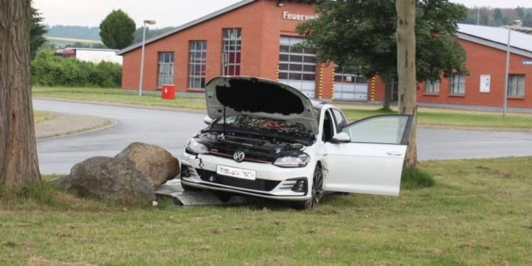 Unfallstelle am Stahler Weg in Höxter