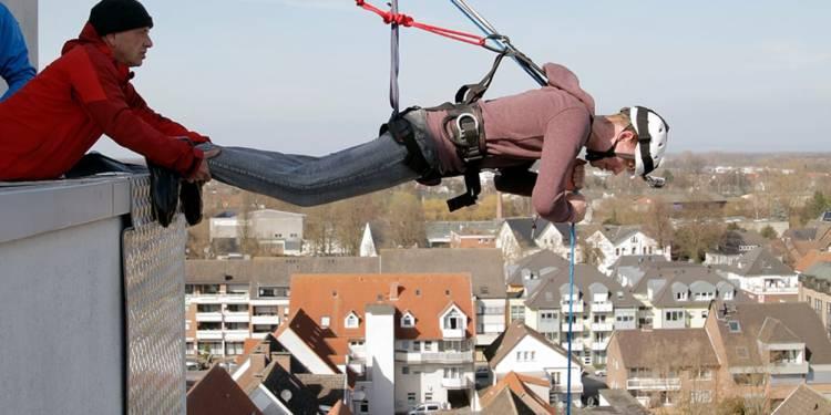 Erlebnis-Klettern vom Rathausdach