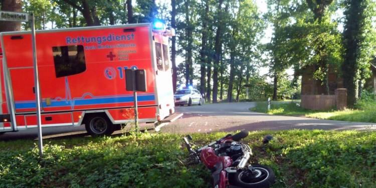 Unfallstelle an der Friedewalder Straße in Petershagen