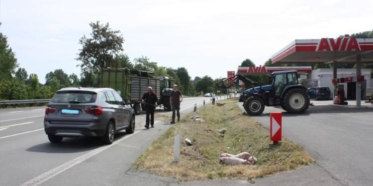 Unfallstelle an der B252 in Brakel