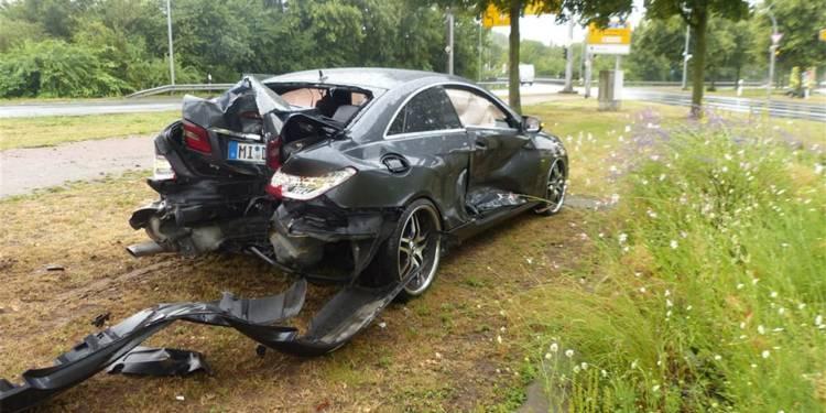Unfallstelle an der Portastraße in Minden