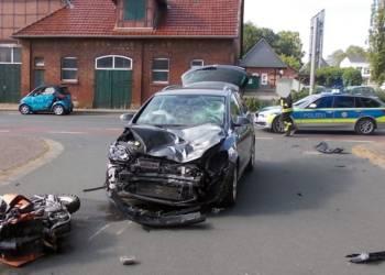 Unfallstelle an der Mindener Straße in Hille