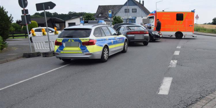 Unfallstelle an der Herforder Straße in Löhne