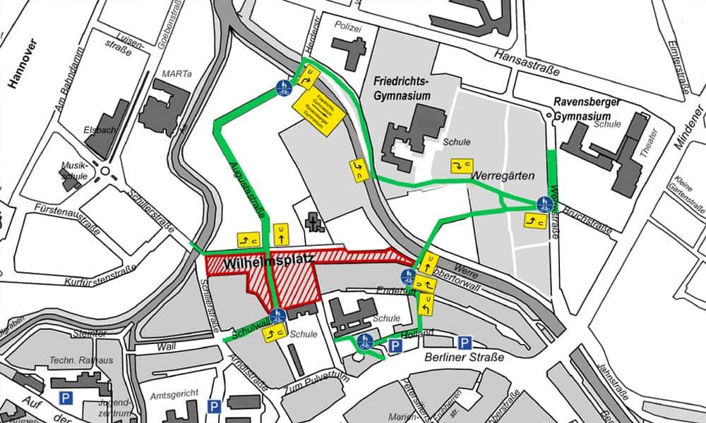Umleitung Wilhelmsplatz