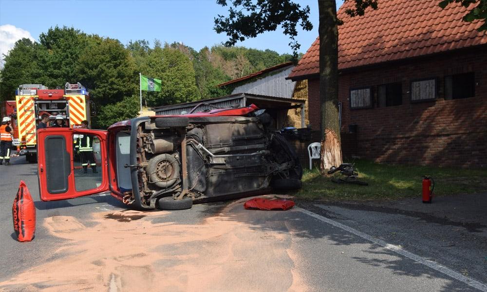 Unfallstelle an der Solterbergstraße in Vlotho